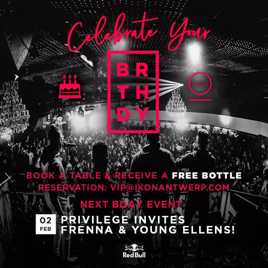 Celebrate your Bday together with us at IKON Antwerp!