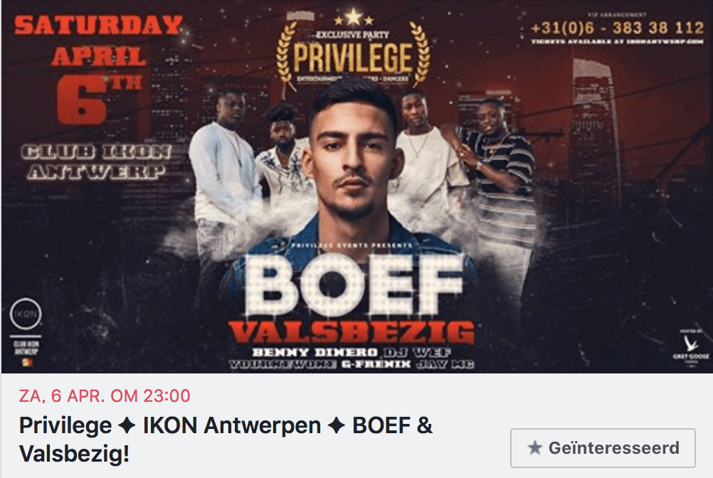 PRIVILEGE invite HIT machine BOEF & Valsbezig