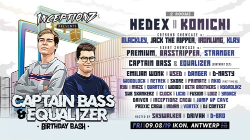 Inceptionz presents: Captain Bass & Equalizer Birthday Bash