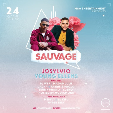 SAUVAGE invites Young Ellens & @Josylvio live on stage!