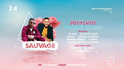 Next urban event at IKON Antwerp Sauvage w/ Josylvio & Young Ellens x IKON Antwerp x August 24th