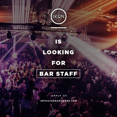 IKON Antwerp is looking for motivated bar staff, waiters & runners.
