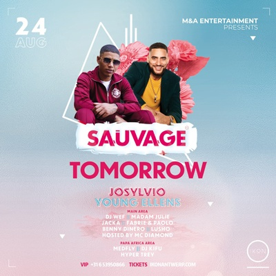 TOMORROW!  Sauvage w/ Josylvio & Young Ellens