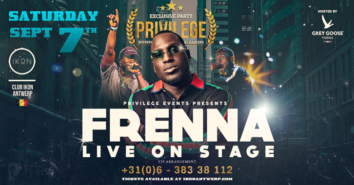 Exactly one week Frenna live on stage