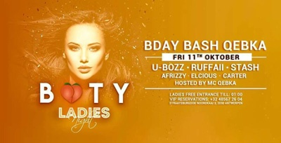 BOOTY LADIES NIGHT | BDAY BASH QEBKA