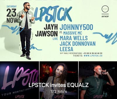 Next LPSTCK on the 23st of November with JAYH JAWSON & JOHNNY500 on stage!