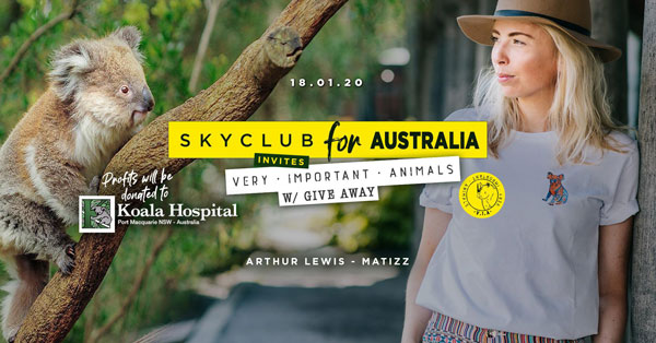 SATURDAY JANUARY 18 SKYCLUB for AUSTRALIA invites VERY IMPORTANT ANIMALS