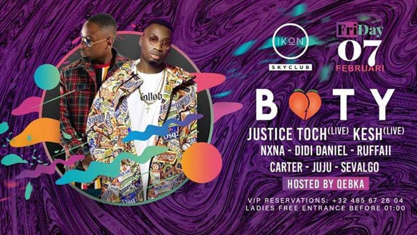BOOTY ♡ invites Justice Toch & more!